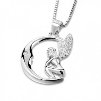 Long Way Sterling Guardian Necklace in Women's Pendants