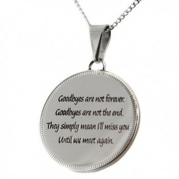 Until Pendant Goodbyes Forever Necklace in Women's Pendants