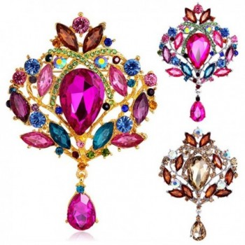 Sanwood Multicolor Rhinestone Crystal Wedding in Women's Brooches & Pins