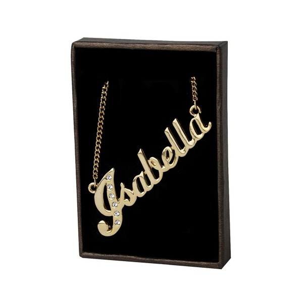 "Name Necklace ""Isabella"" 18K Gold Plated - CK11GV66MLZ"