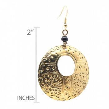 Maisha Trade Hammered Circle Earring