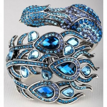 YACQ Jewelry Crystal Peacock Bracelet