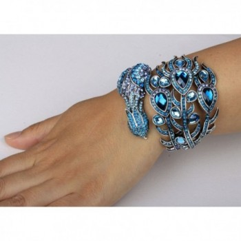 YACQ Jewelry Crystal Peacock Bracelet in Women's Bangle Bracelets