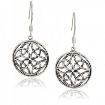 Celtic-Knot Round Drop Earrings Sterling Silver | SPUNKYsoul Collection - CT12HTZ7I8H