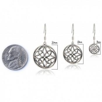 Celtic Knot Earrings Medium SPUNKYsoul Collection in Women's Drop & Dangle Earrings