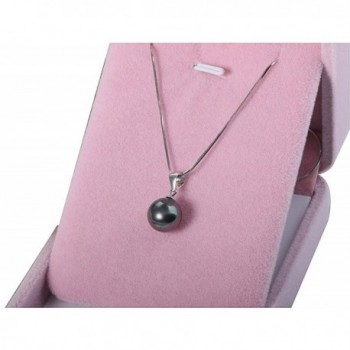 White Pendant Necklace Sterling Silver