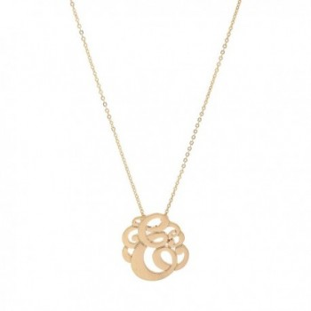Brush Plated Initial Monogram Necklace