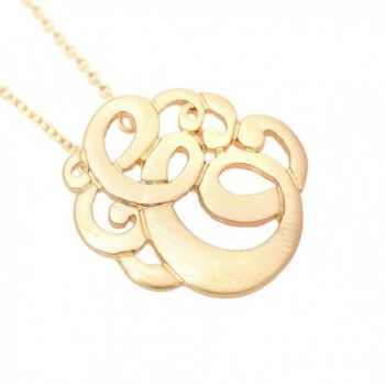 Brush Plated Initial Monogram Necklace in Women's Chain Necklaces