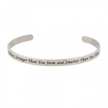 You're Braver Than You Believe- Stronger Than You Seem Christopher Robin Inspirational Bracelet - CN11VC244JF