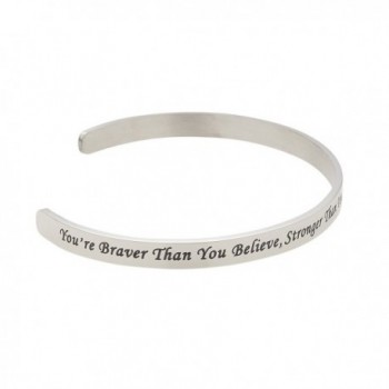 Believe Stronger Christopher Inspirational Bracelet