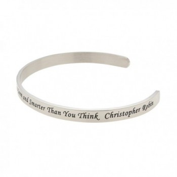 Believe Stronger Christopher Inspirational Bracelet in Women's Cuff Bracelets