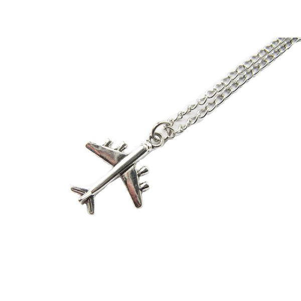 Airplane Necklace. Vintage Inspired Necklace.plane Necklace. Pilot. World Traveler. Air Force. - C41205R149Z