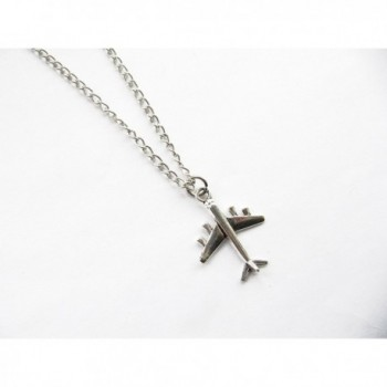 Airplane Necklace Inspired Necklace plane Traveler in Women's Lockets