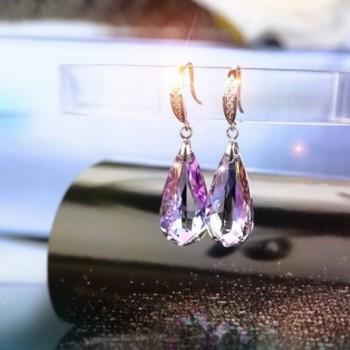 SILYHEART Teardrop Earrings Swarovski Crystals in Women's Drop & Dangle Earrings