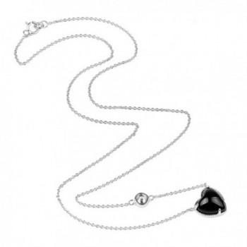 Sterling Zirconia Rhodium Pendant Necklace in Women's Pendants