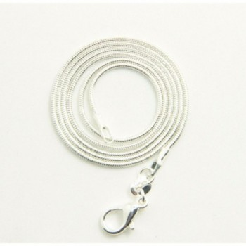 Silver Plated 1 2mm Necklace Inches in Women's Chain Necklaces
