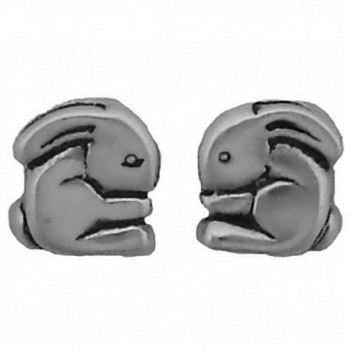 Corinna-Maria 925 Sterling Silver Bunny Rabbit Earrings Studs Tiny Mini Stainless Steel Posts and Backs - C1115W7DP7X