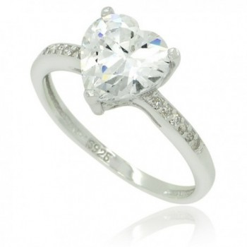 Sterling Silver CZ Heart Stackable Ring - C711C6OL4FP