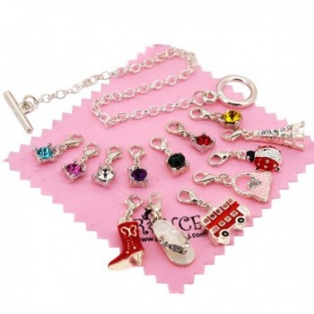 Silver Plated Bracelet Removable Charms