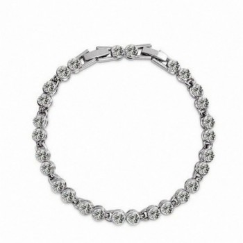 Clear Crystal Dream Silver Plated Charm Bracelet - CT11V8D4X9T