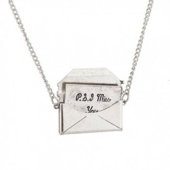 Lux Accessories PS I Miss You Love Letter In An Envelope Pendant Necklace. - CI129JUJ4S7