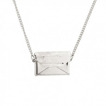 Lux Accessories Envelope Pendant Necklace