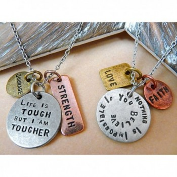 Tougher Antique Stamped Pendant Necklace in Women's Chain Necklaces