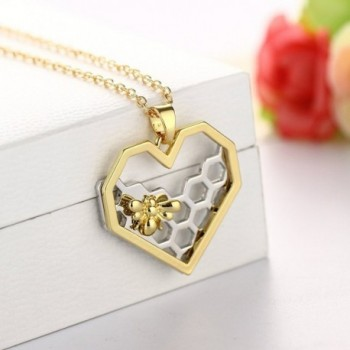 Hexagon Honeycomb Necklace CHUYUN Honeybee