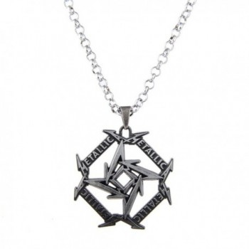Lureme Punk Jewelry Metallica Band Signs Geometry Pendant Necklace (nl005613) - Silver - CD184SZ707I