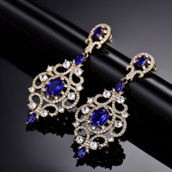 GULICX Sapphire Crystal Chandelier Earrings in Women's Drop & Dangle Earrings