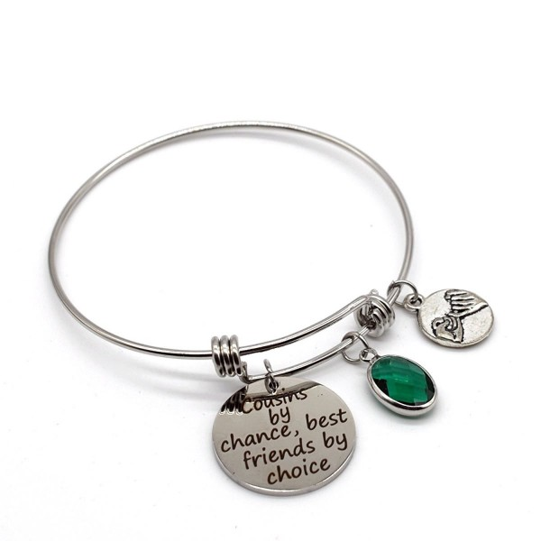 Stainless Steel Adjustable Bracelet- Cousins by Chance Friends by Choice- ASB14 - C8185NC847Y