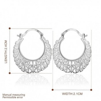 Cos2be Silver Plated Earrings Hollow silver in Women's Hoop Earrings