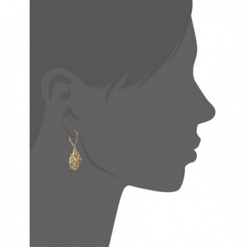 1928 Jewelry Gold Tone Filigree Earrings