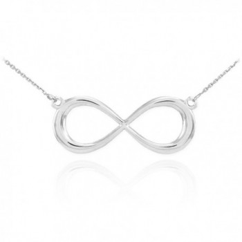 925 Sterling Silver Dainty Forever Infinity Necklace - CE11IULL2E1