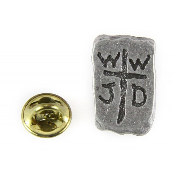 6030169 WWJD What Would Jesus Do Lapel Pin Tie Tack Brooch - C811CJPHPQD