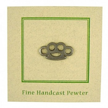 Brass Knuckles Lapel Pin Count in Women's Brooches & Pins