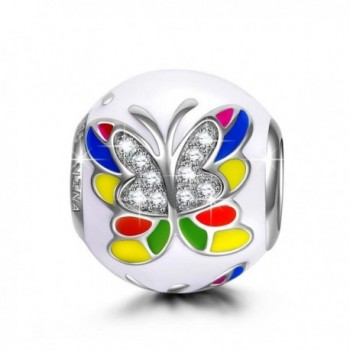 "NinaQueen ""Colorful Butterlfly"" 925 Sterling Silver Bead Charms - CU11Y257RZH"