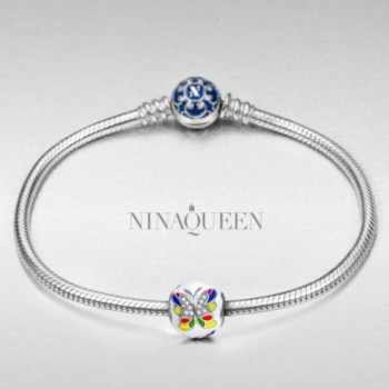 NinaQueen Colorful Butterlfly Christmas Anniversary in Women's Charms & Charm Bracelets
