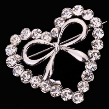 YAZILIND Jewelry Heart Zirconia Brooches