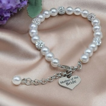 LParkin Mother Bride Pearl Bracelet in Women's Link Bracelets
