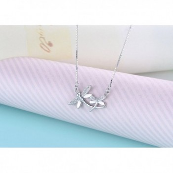 Sterling Silver Dragonfly Pendant Necklace in Women's Pendants