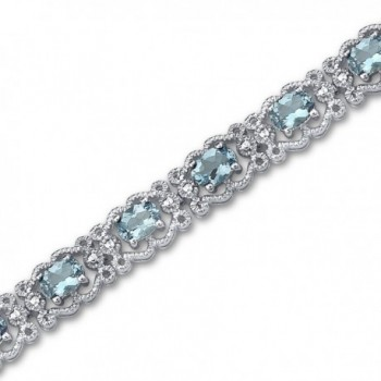 Swiss Blue Topaz Bracelet Sterling Silver 8.50 Carats Vintage Design - CO111PMCRXH