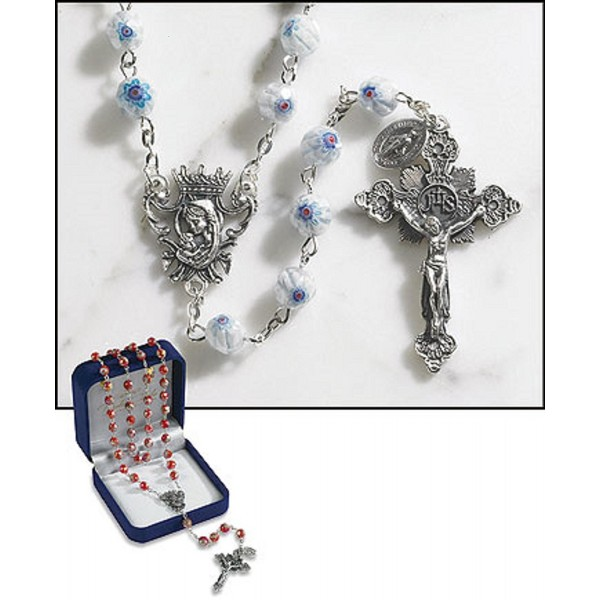 Light Blue Murano Rosary - C412FY9N2RB