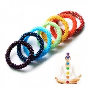 Chakra Healing Stretch Bracelet Crystal in Women's Strand Bracelets