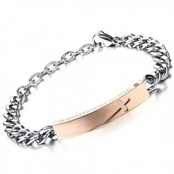 Flongo Stunning Stainless Romantic Anniversary - rose gold- for Women - C3126JA6P2R