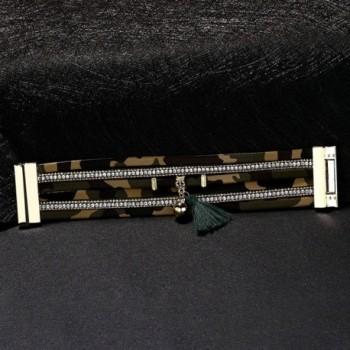 Daesar Leather Bracelet Camouflage Pattern in Women's Link Bracelets