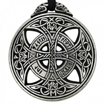 Pewter Large Celtic Knot Love Pendant Viking Norse Rune Necklace - 1 3/8 Inch Diameter - C3118HIR6BF