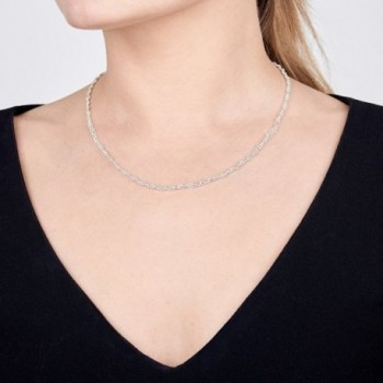 Amberta Sterling Silver Necklace Length in Women's Chain Necklaces