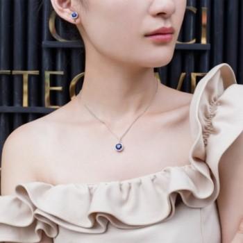 Vibrille Sapphire Sterling Earrings Zirconia in Women's Stud Earrings