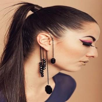 YAZILIND Dignity Black Dangle Earring